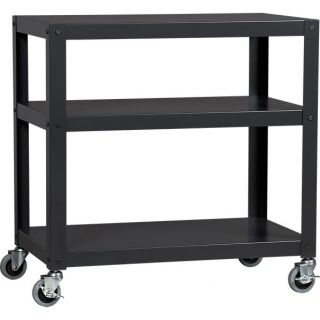 go cart carbon three shelf table in accent tables  CB2