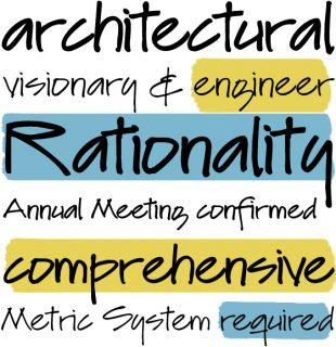 También Lu procede de la mano de un arquitecto. Es un tipo de letra