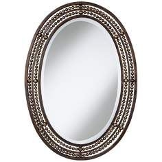 Uttermost Matney Oval 34 High Wall Mirror