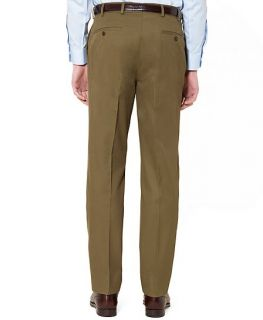 Fitzgerald Fit Plain Front Cotton Twill Trousers   Brooks Brothers