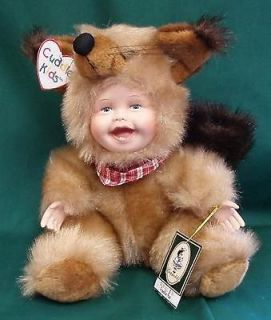 GEPPEDDO PORCELAIN CUDDLE KIDS DOLL TOY FRANKIE FOX 2000 NIB W TAGS