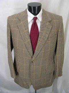 Vintage FAB Houndstooth Heavy TWEED Blazer Jacket 42R