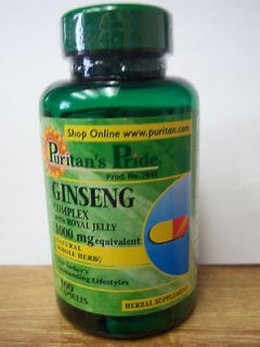 GINSENG Complex, 1000 mg., with Royal Jelly, 100 Capsules