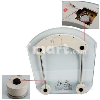 2003B 2.5 LCD Toughened Glass LCD Body Watcher Digital Bathroom Scale