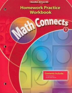 Math Connects, Grade 1, Homework Practice Workbook by MacMillan McGraw