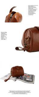 Fashionable Women PU Leather Wrist Bag Shoulder Messenger Bag Brown