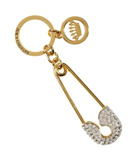 Juicy Couture Gold Toned Safety Pin Key Fob  Damen  Schmuck
