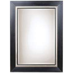 Uttermost Whitmore 54 High Black and Silver Wall Mirror