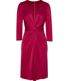 Issa Bordeaux Silk Jersey Dress  Damen  Kleider