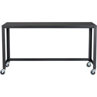 go cart carbon grey console table in office furniture  CB2