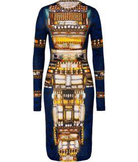 Peter Pilotto Blue Multi Wool Jersey Dress  Damen  Kleider