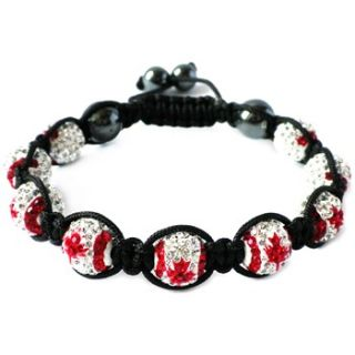 Love Crystal Red/White Canada Eleven Austrian Crystal Bracelet