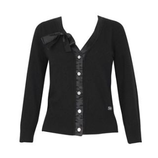 Lipsy Black Bow Wool Blend Cardigan