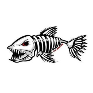 Fish Skinz 12 Fish Logo Decal Facing Left   Gander Mountain