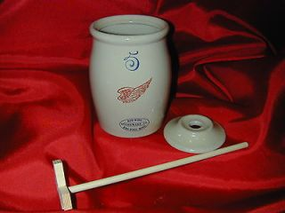 Red Wing Miniature Butter Churn Crock with Dasher Storage Stoneware