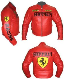 Ferrari leather racing jacket all colours size 4XS to 8XL