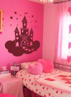 Princess Castle Giant Wall Art Children Sticker Murals Decals WA180