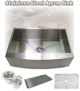 30 Apron Front Stainless Steel Farmhouse Kitchen Sink Combo