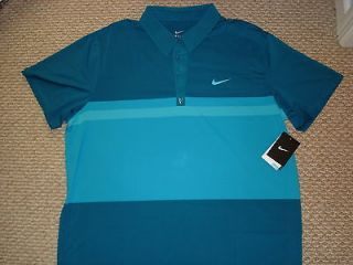 NWT NlKE Federer RF Smash Stripe Polo Shirt Blue 446905 323 Nadal