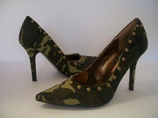 High Heel Closed Womens Shoes, Platform Pumps, CAMOUFLAGE PRINT Size