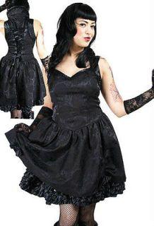 black gothic emo burlesque corset lace prom party mini dress