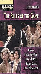 Broadway Theatre Archive   The Rules of the Game VHS, 2003