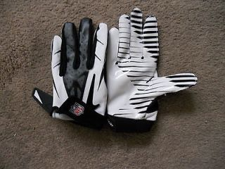 White/Black Nike NFL Vapor Jet 2.0 Football Gloves Mens Size Large