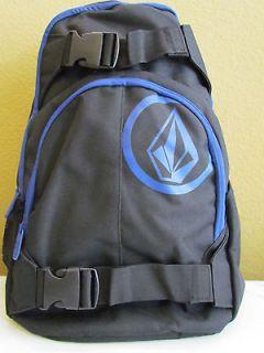 NWT Volcom Graphic Circle Logo Multi function Laptop Backpack Black