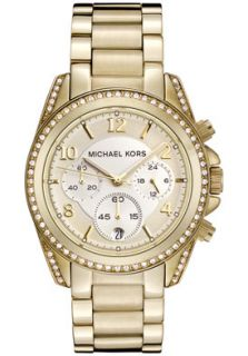Michael Kors MK5166 Watches,Womens Chronograph White Crystal Gold