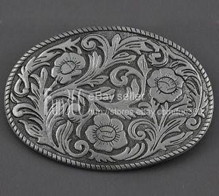 Western Flower Floral Scroll Tribal Tattoo Art Men/Ladies Metal Belt
