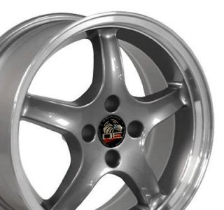 Single 17x8 Gunmetal Cobra R Wheel 4 Lug Fits Mustang® 79 93