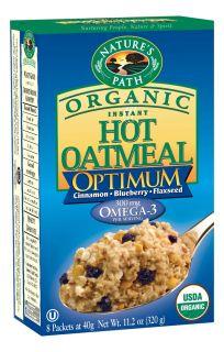 Buy Natures Path Organic   Instant Hot Oatmeal Optimum 8 x 40g
