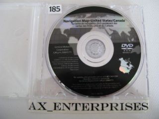 2009 Escalade EXT ESV Navigation DVD Map 8.3 Rel 9/2009 Update 2010