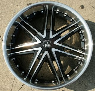 LUPUS 981 20 BLACK RIMS WHEELS 4WD GMC JIMMY 88 up / 20 x 8.5 5H +38