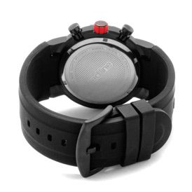 Red Line 50027 BB 01RD Watches,Mens RPM Black Dial Black Silicone