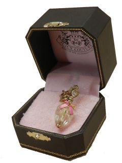 JUICY COUTURE PERFUME BOTTLE BRACELET CHARM GOLDTONE *GIFT BOX* NIB