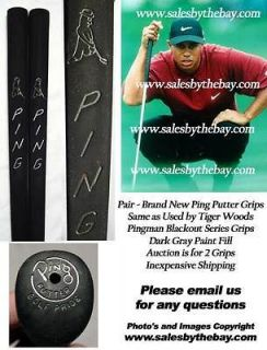 Pingman Blackout Ping Putter Grips   BRAND NEW ( 2 Grips) TIGER WOODS