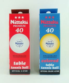Nittaku 3 STAR Premium Table Tennis BALL (ORANGE / WHITE)