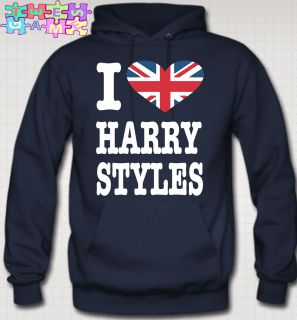 LOVE harry styles HOODIE british flag niall zayn liam louis one