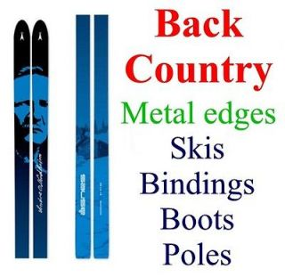 BACK COUNTRY BC cross country XC SKIS/BINDINGS/BOOTS/POLES  Metal edge