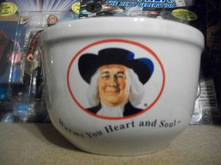 HARD TO FND QUAKER OATS OATMEAL CEREAL BOWL WARMS YOUR HEART AND SOUL