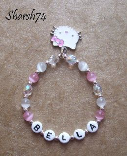 New SALE Baby Child Girls Hello Kitty Charm Name Bracelet Party Favors