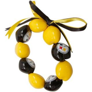 Pittsburgh Steelers Ladies Black Gold Kukui Beaded Bracelet