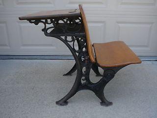 /Cast Iron Desk by C.R. School Furniture Co. Grand Rapids, MI VGC