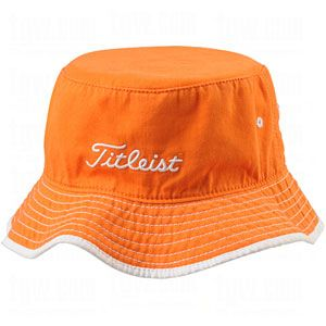 TITLEIST BUCKET HATS ORANGE LG/XL
