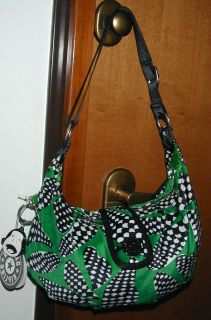 WINTER VELOUR SHOULDER BAG*GORILLA GIRL*WEAVE*FUN SCALES*BLACK+GREEN