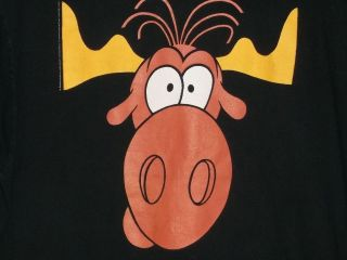 Bullwinkle Moose Black XL T Shirt Taco Bell Fractured Fairy Tale Frame