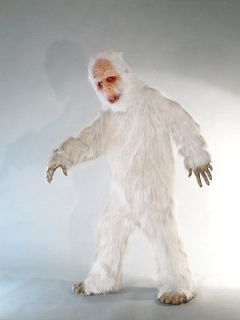 HALLOWEEN MASK COSTUME WHITE SASQUATCH COSTUME