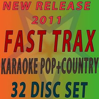 NEW Karaoke set ON  32 CD FAST TRAX Country,Pop SAVE BIG  FREE