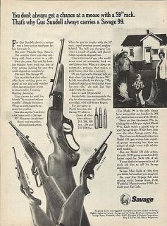 1972 Gus Sandell Savage 99 Gun Ad 4 Models